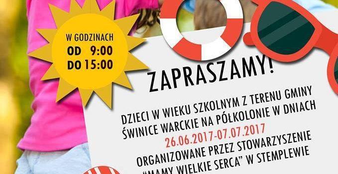 Półkolonie 2017 – zaproszenie